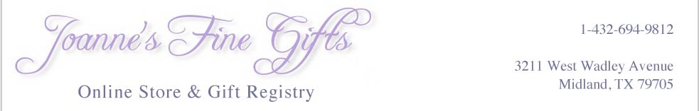 Home page for Joanne\'s Gifts in Midland, TX